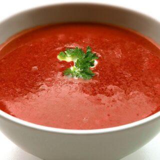 Raw ostrá polévka