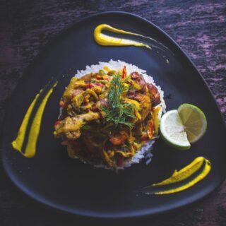 čína s rýží jídlo