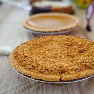 drobenkový koláč z jablek